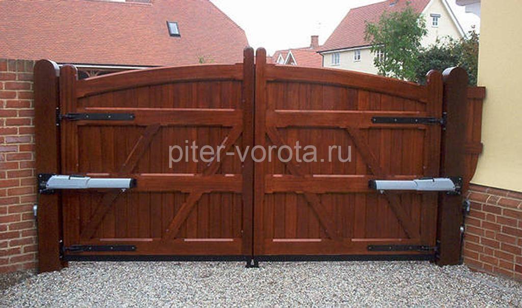 Ворота в деревянный гараж своими руками фото