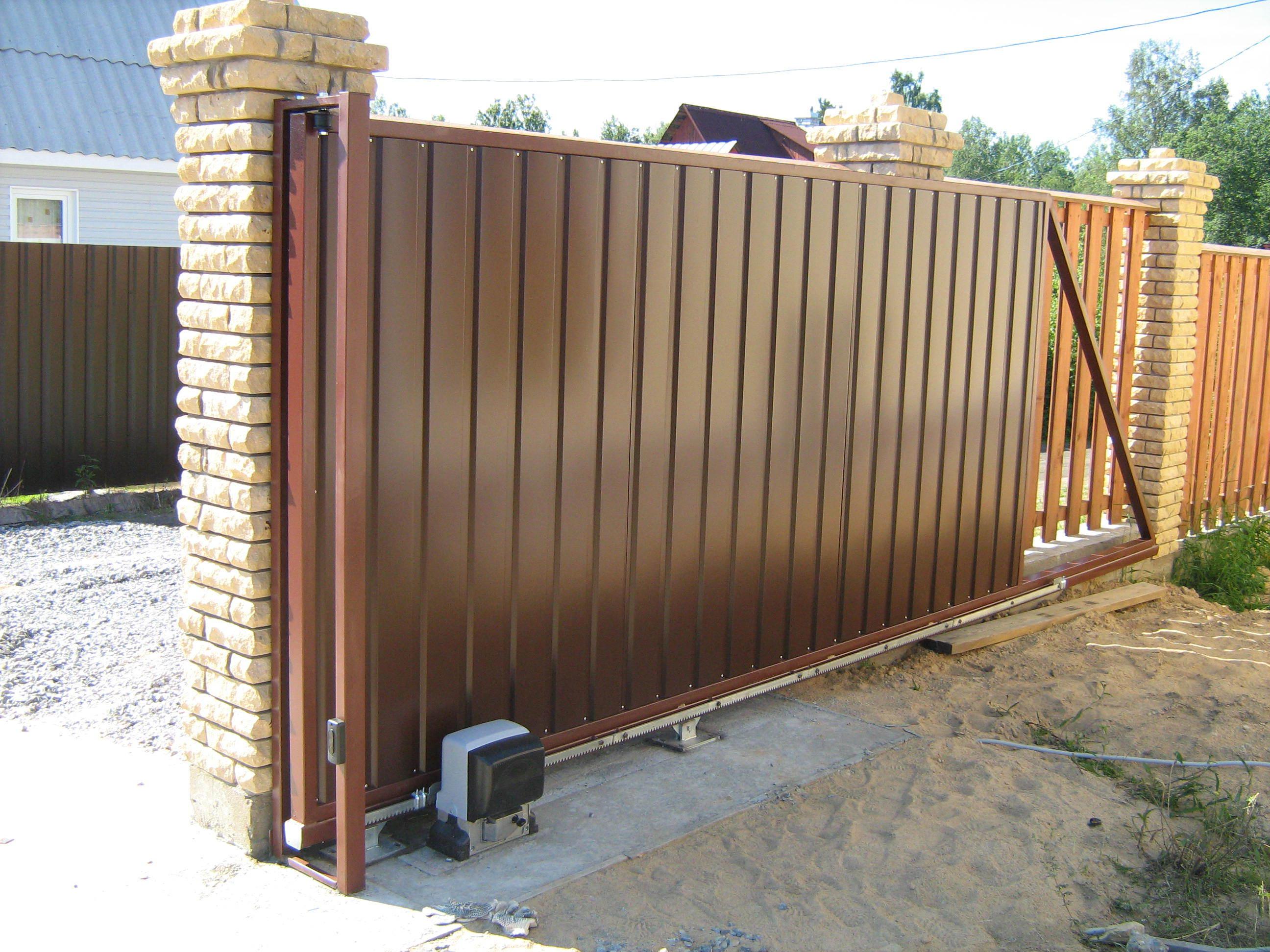 Откатные атоматические ворота faac 741 привод для откатных ворот