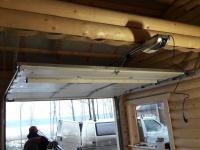 Гаражные подъёмно-секционные ворота с автоматикой в Коробицыно