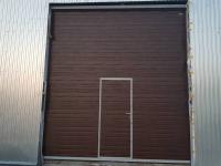 Промышленные подъёмно-секционные ворота Doorhan ISD01 в Глухоозерском
