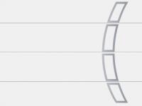 L-гофр (LPU), мотив 457, белого цвета RAL 9016