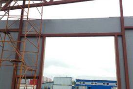 Четыре комплекта промышленных подъёмно-секционные ворот DoorHan ISD01 и гаражных RSD02 в Мурино, фото 17