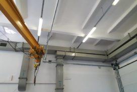 Ворота промышленные подъёмно-секционные Doorhan серии ISD01 в Пикалёво фото 1 после