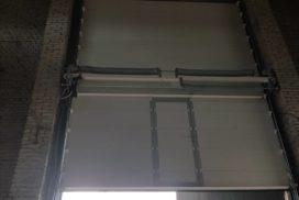 Ворота промышленные подъёмно-секционные Doorhan серии ISD01 в Большом Сампсониевском фото 2 после