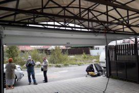 Ворота гаражные подъёмно-секционные Doorhan серии RSD02 в Рощино фото 2 после