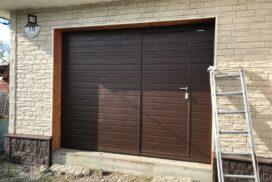 Ворота гаражные подъёмно-секционные Doorhan серии RSD02 в Большом Верево фото 1 после