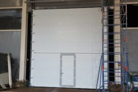 Ворота промышленные подъёмно-секционные Doorhan серии ISD01 в Серебрянском фото после 3