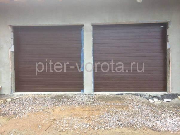 Гаражные подъёмно-секционные ворота в Рощино