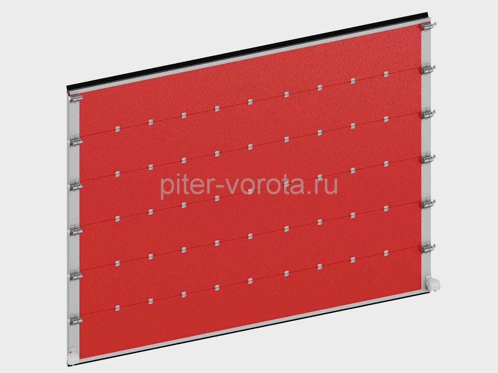 Щит ворот из стальных сэндвич-панелей толщиной 60 мм