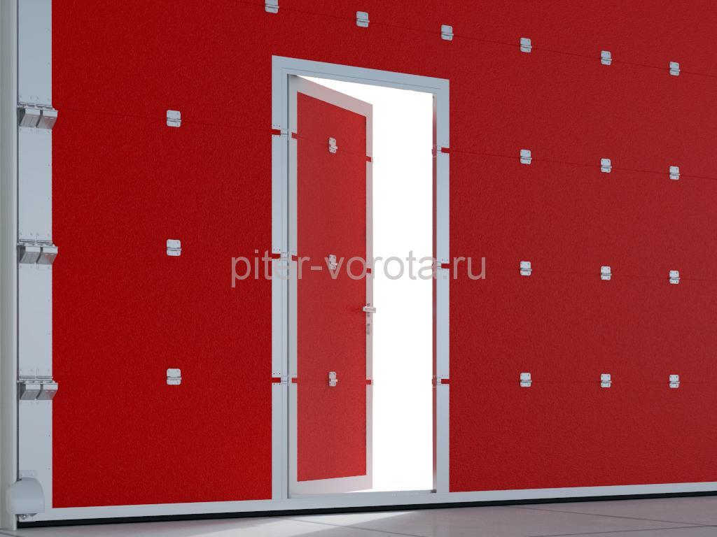 Встроенная дверь. Сохраняйте тепло внутри гаража и экономьте энергию.