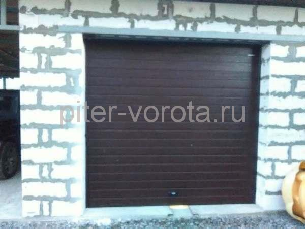 Гаражные подъёмно-секционные ворота в д. Скотное