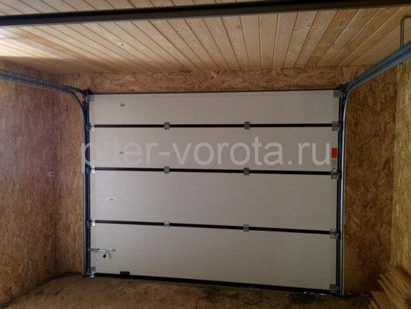 Гаражные подъёмно-секционные ворота в Финском Хуторе