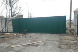 Уличные откатные ворота на Левашовском шоссе, фото 2