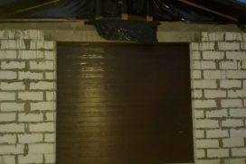 Ворота гаражные подъёмно-секционные Doorhan серии RSD02 в п. Паша фото 1 после