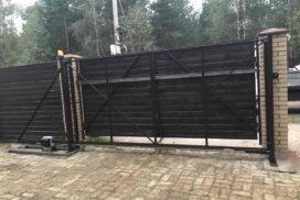 Уличные откатные ворота в СНТ Осинка, фото 2