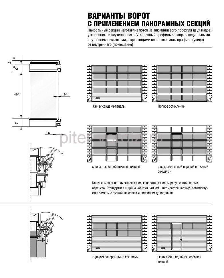 Конструкция промышленных ворот