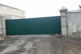 Уличные откатные ворота на Левашовском шоссе, фото 3