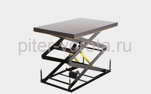 Подъемный стол с двумя парами ножниц