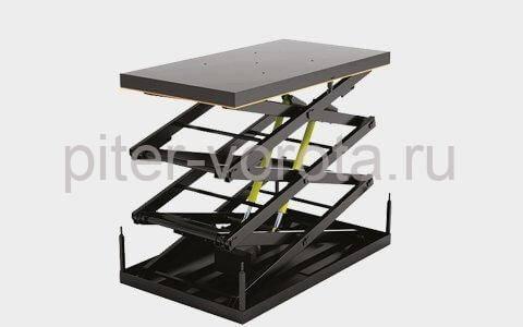 Подъемный стол с тремя парами ножниц