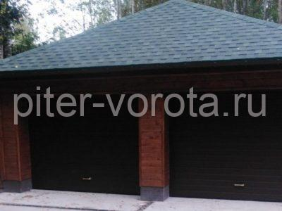 Гаражные подъёмно-секционные ворота Alutech Prestige в Красницах, фото 1