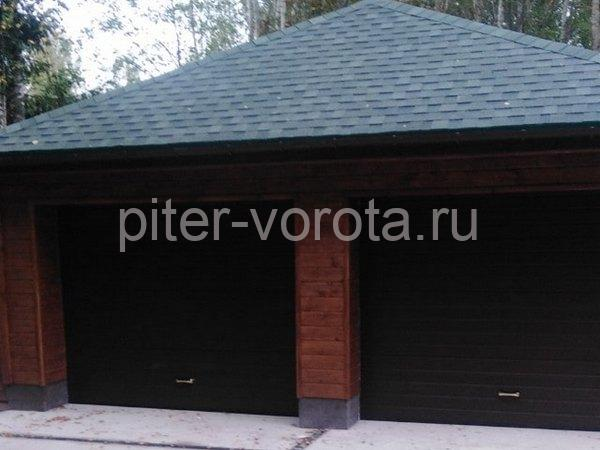 Гаражные подъёмно-секционные ворота Alutech Prestige в Красницах