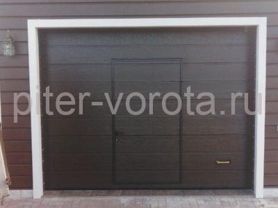 Ворота гаражные подъёмно-секционные Alutech Prestige в Удальцово, фото 1