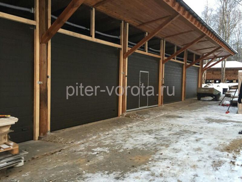 Гаражные подъёмно-секционные ворота в д. Староселье