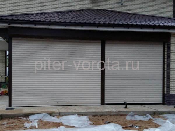 Гаражные подъёмно-секционные ворота в ДНП Солнечное