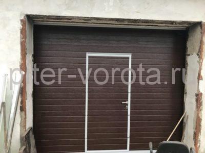 Гаражные подъёмно-секционные ворота Doorhan RSD02 в Полюстровском, фото 1
