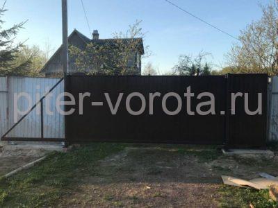 Уличные откатные ворота Doorhan в Синявино, фото 1