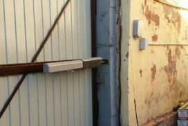 Уличные распашные ворота Doorhan на Гагарина в СПБ, фото 6