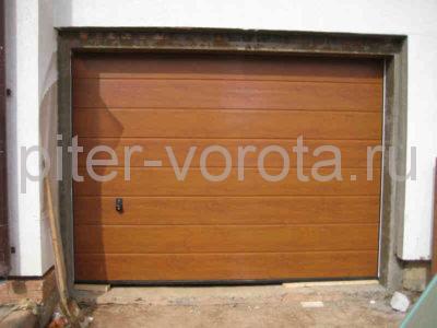 Секционные ворота Hormann 3000 × 3000 мм, автоматический привод Prolift