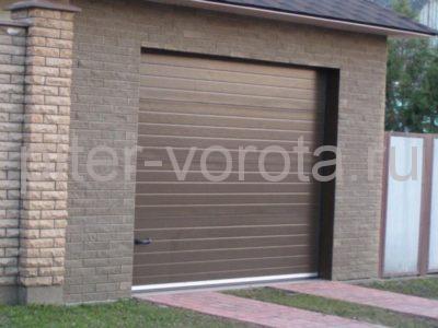 Секционные ворота Hormann 3000 × 3000 мм, ручное управление