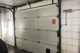 Промышленные подъёмно-секционные ворота Alutech серии Protrend на В.О., фото 5