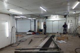 Промышленные подъёмно-секционные ворота Alutech серии Protrend на В.О., фото 3
