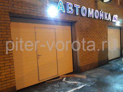 Промышленные подъёмно-секционные ворота Alutech серии Protrend на В.О., фото 1