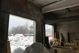 Промышленные подъёмно-секционные ворота DoorHan ISD01 в п.Рощино, фото 5