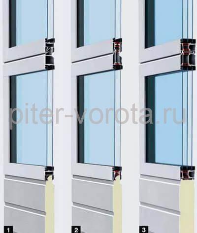 алюминиевые ворота c остеклением