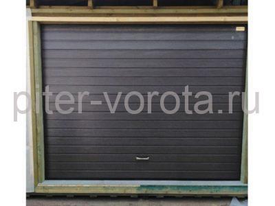 Гаражные подъёмно-секционные ворота Alutech Prestige в ДНП Восход, фото 1