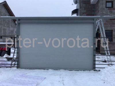 Роллетные ворота Doorhan из профиля RH77М в Сосновом Бору, фото 2