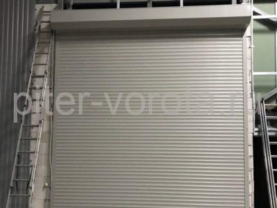 Роллетные ворота Doorhan из профиля RH77M в СПБ, фото 1