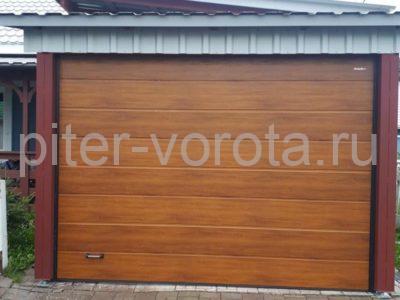 Ворота гаражные подъёмно-секционные DoorHan серии RSD01 в Рощино, фото 1