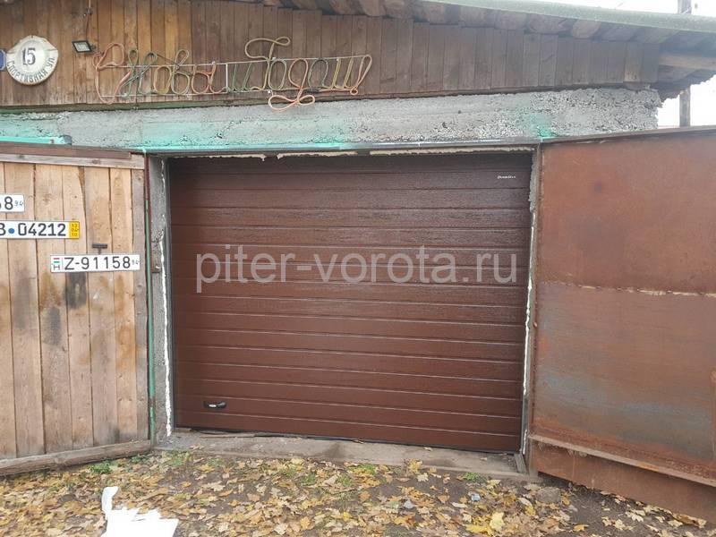 Гаражные подъёмно-секционные ворота DoorHan RSD02 в Пушном