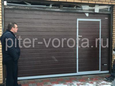 Гаражные подъёмно-секционные ворота Doorhan RSD02 в Янино-2, фото 1
