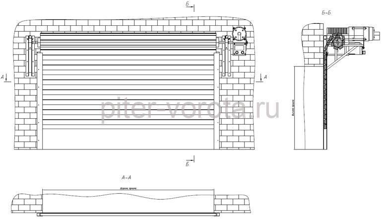 Схема работы рулонной конструкции