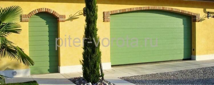 Фото секционных ворот с калиткой