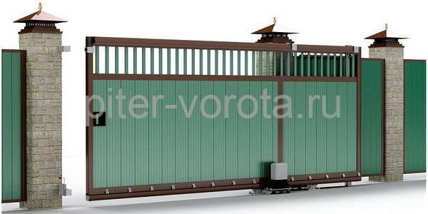 Пример въездных ворот
