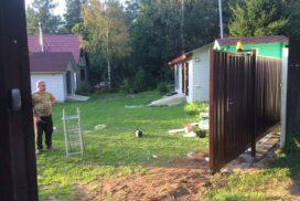 Уличные откатные ворота в д. Озерки, фото 4