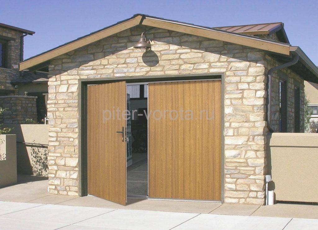 Вид ворот для гаража с внешней стороны